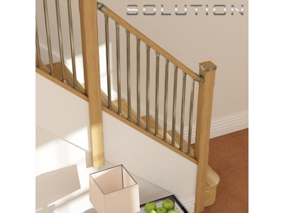 New solution staircasse railing system