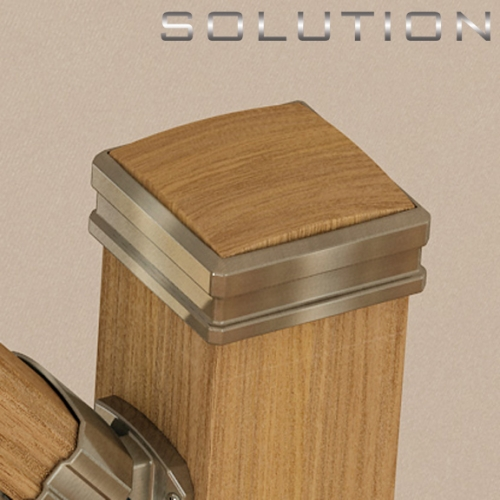 Solution newel post cap